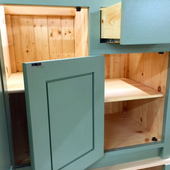 Bespoke solid wood cabinet in the shaker style, hand made in Nottingham.