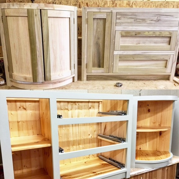 Selection of our fully bespoke, hand made, solid wood kitchen furniture in a tailor made shaker style.
